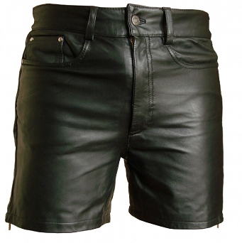 Short Leather Trousers
