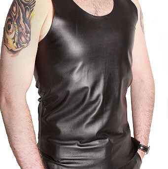 Leather undervest