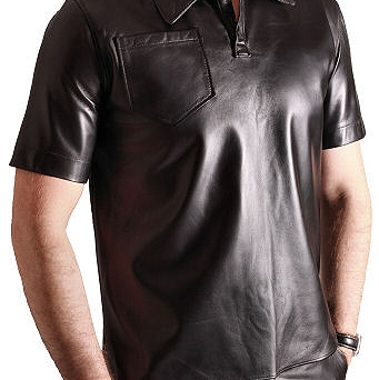 Leather Polo shirt